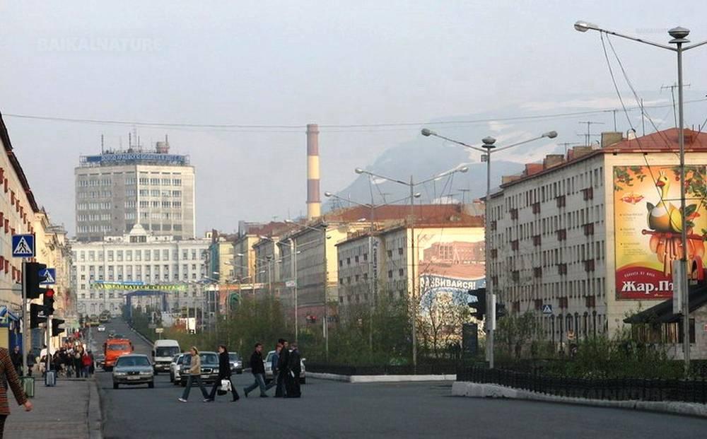 Centre of the Norilsk city
