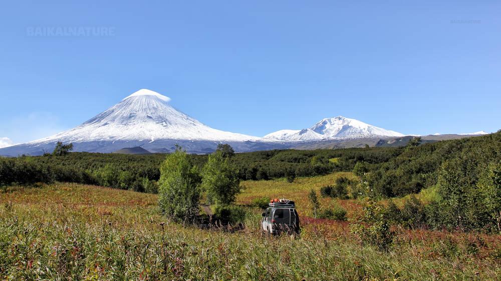 Дорога к вулкану. Вулкан Ключевская сопка. (4800 м) - самый высокий активный вулкан Евразии.