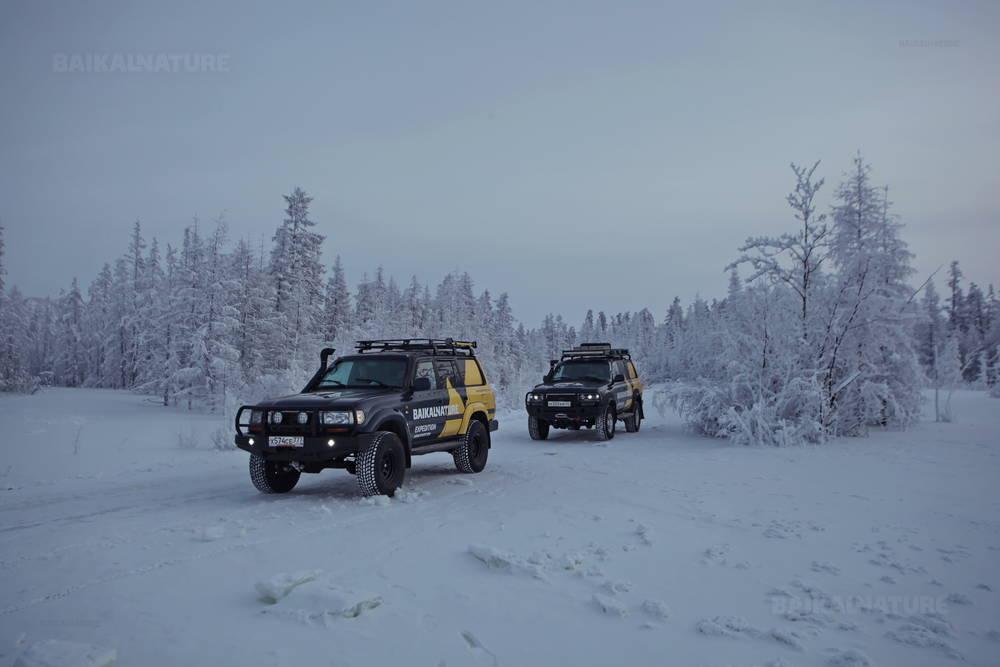 Староколымская дорога зимой