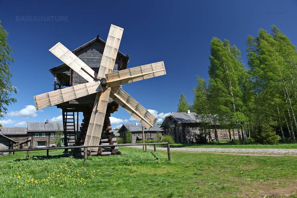 Мельница в деревне Верхние Мандроги