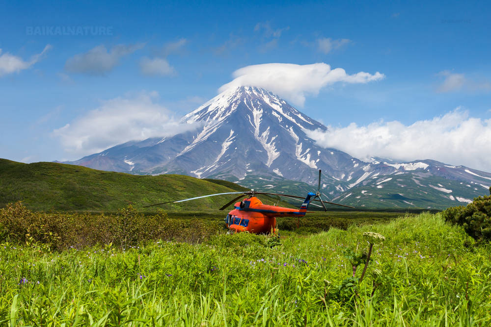 Вулканы Камчатки.