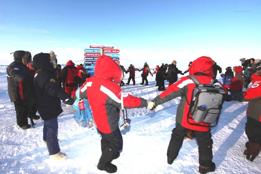 Pôle Nord en hélicoptère