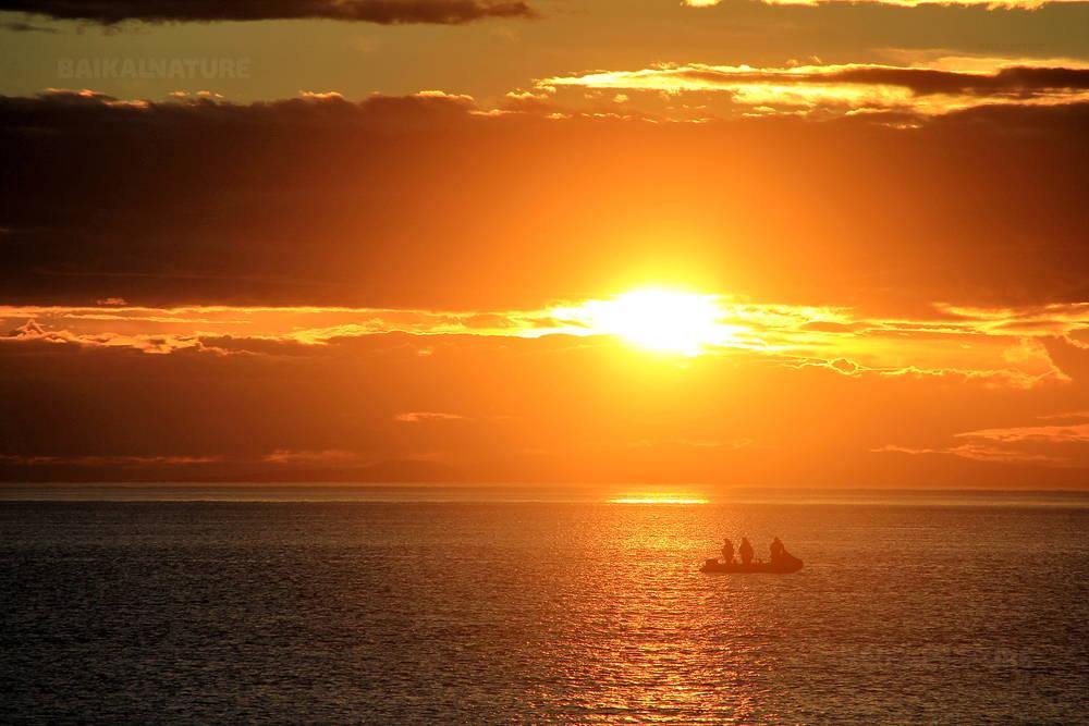 Sunset in the Sea of Okhotsk